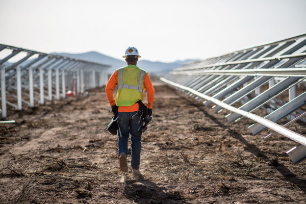 Industrial construction worker, Beryl Solar Plant Utah