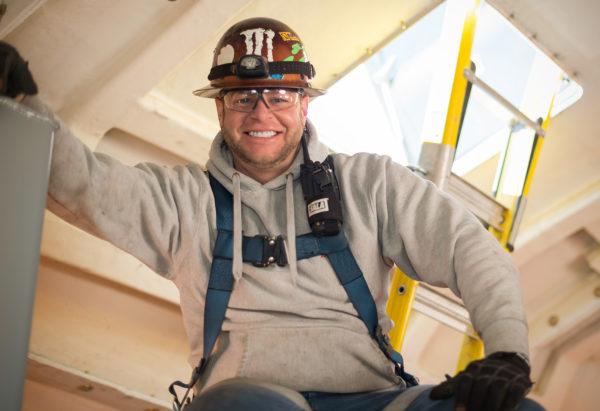 Wind tower technician, Milford Wind