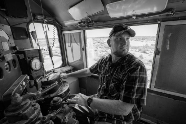 Railroad engineer, Utah