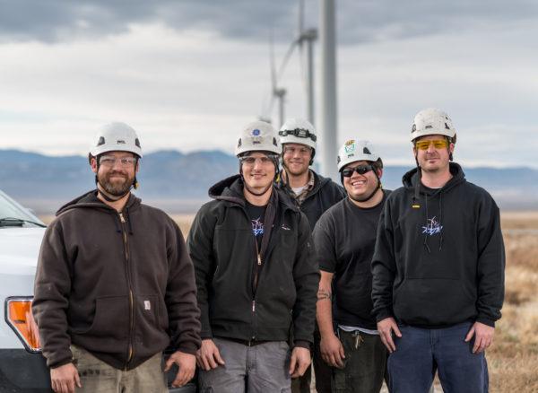 Wind power technicians, Milford Utah