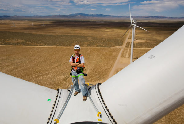 Wind tower worker, Milford Utah