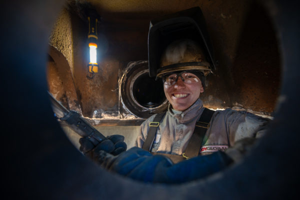 Welder at Intermountain Power Association, Delta Utah