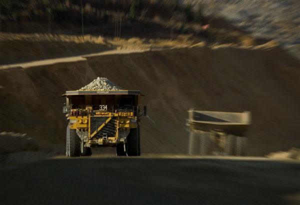 Haul trucks, Kennecott copper mine, Utah